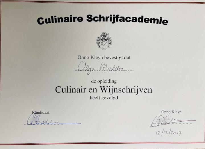 Huur Ol in One in als culinair schrijver